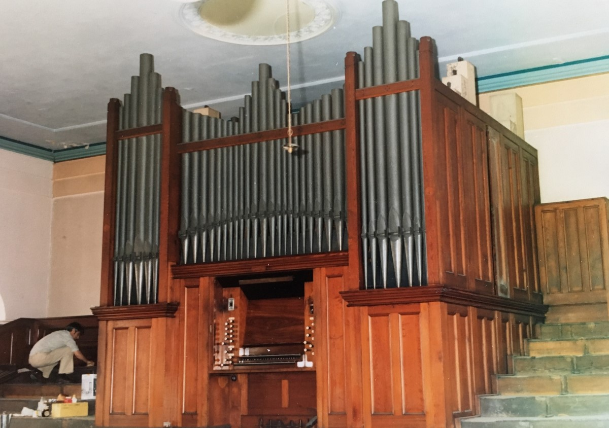 Oorspronkelijke orgel in Mount Pleasant Congregational Church in Turnbridge Wells (Zuid-Engeland)